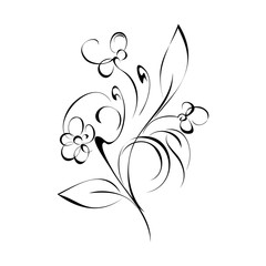 ornament 98. stylized flowers on a white background