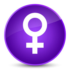 Female sign icon elegant purple round button