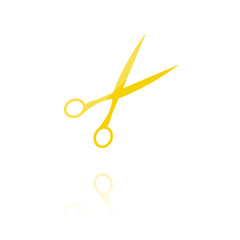 Farbiges Symbol - Schere