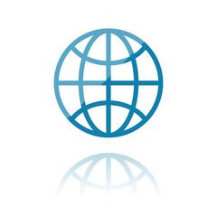 Farbiges Symbol - Internet-Symbol