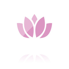 farbiges Symbol - Lotusblüte