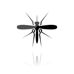farbiges Symbol - Stechmücke