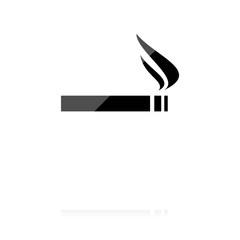 farbiges Symbol - Zigarette