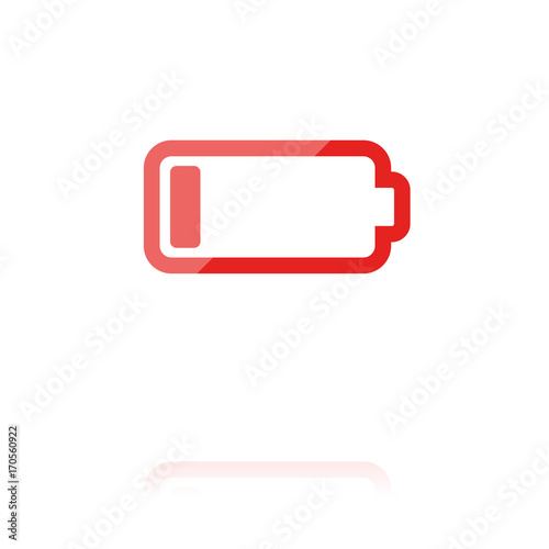 farbiges Symbol - leere Batterie\
