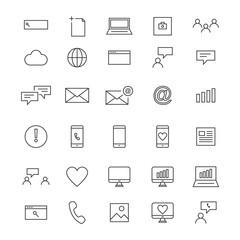 30 Line Social Icons