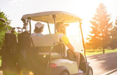 Foto op Aluminium Golf Men playing golf