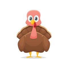 Cartoon turkey vector isolated illustration