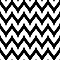 Vector Zigzag Chevron Seamless Pattern. Curved Wavy Zig Zag Lines. Herringbone pattern.