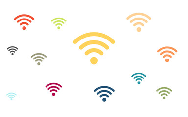 Wallpaper - bunte WLAN Symbole