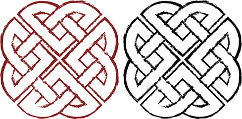 Stylized celtic knots