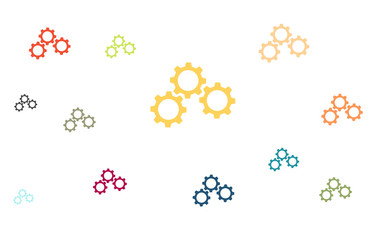 Wallpaper - bunte Zahnräder - Kooperation