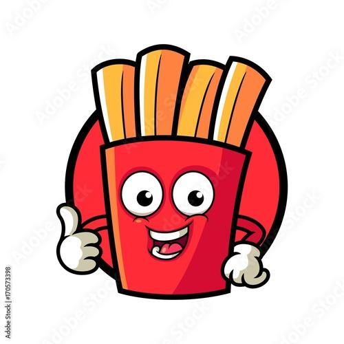 French Fries Mascot Logo Template Stockfotos Und Lizenzfreie