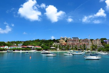 Cruz Bay, the ferry port town on St. John, USVI, Virgin Islands, Caribbean