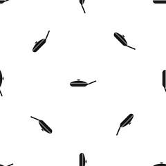 Black frying pan pattern seamless black