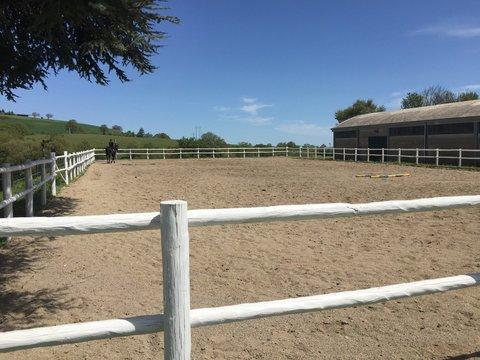 Staccionata del campo equitazione