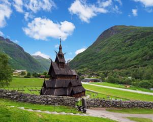 Poster Monument Borgund Stave Church, Norway