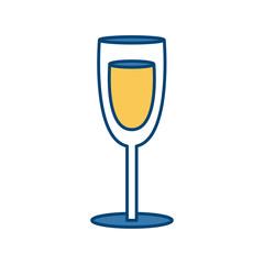 Champagne cup glass icon vector illustration graphic design