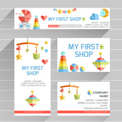 Vector ready design template for early development club, child C