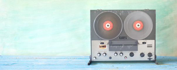 old reel to reel tape recorder, good copy space