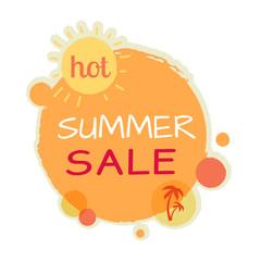 Hot Summer Sale Round Banner. Best Quality Price