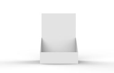 Holder For Magazines, Newspaper, Books, Leaflet, Brochure, Document Holder Mock Up Template on isolated White Background, 3D Illustration
