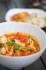 Tom Yum Kung with instant noodle