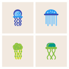 Jellyfish vector collection