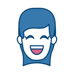 Woman smiling with eyes closed icon vector illustration graphic design