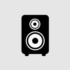 Musical speaker icon sign isolated on background. Speaker music box. Vector stock.