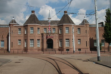 Front building of soccer stadium in the Netherlands of Sparta Rotterdam