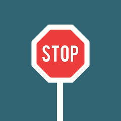 Stop traffic signal isolated on background. Vectors stock.