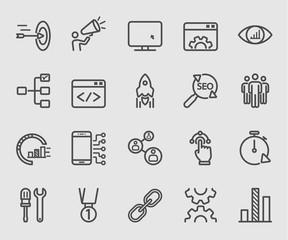 Internet marketing line icon