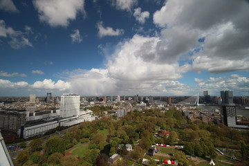 View above Rotterdam from Euromast