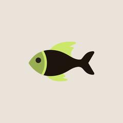 Vector sea fish
