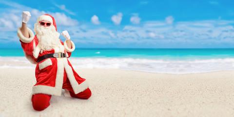 Santa Claus christmas beach holiday