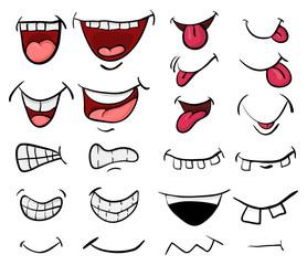 Obraz cartoon mouth set vector symbol icon design. Beautiful illustration isolated on white background - fototapety do salonu