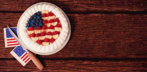 Fruitcake with 4th july theme