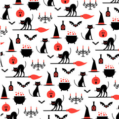 halloween pattern on white