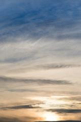 clouds in the sky at dawn Sun