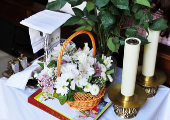 Objetos litúrgicos para la misa
