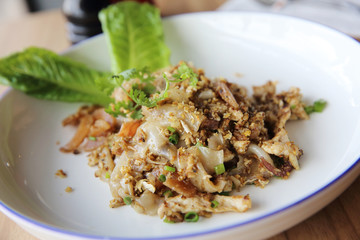Fried Noodles with Chicken , Thai food