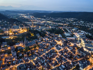 Wall Mural - City of Marburg of night, Germany