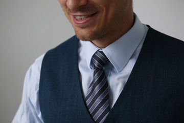 Tie on shirt suit business style man fashion shop