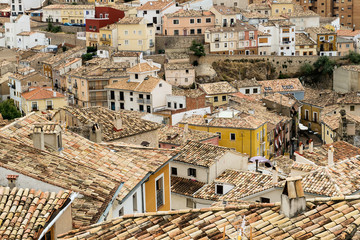 View to the roofs of the Cuenca city, Spain