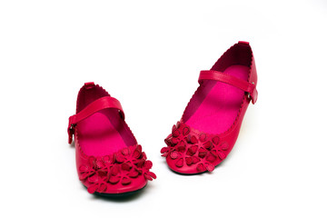 Wall Mural - bright pink shoes