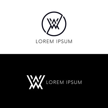 Clean AW logo icon WA sign company symbol.