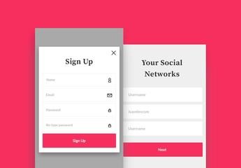 App Login and Sign-Up UX/UI Kit 2