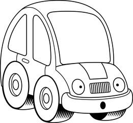 Surprised Cartoon Car