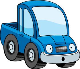 Surprised Cartoon Pickup Truck