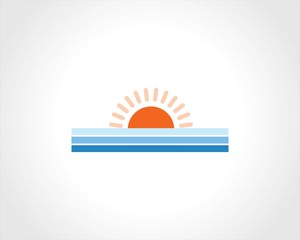 sun line vector logo